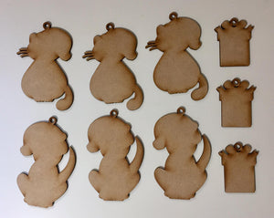 XMD15: Craft Buddy Coordinating MDF Ornaments: Festive Friends