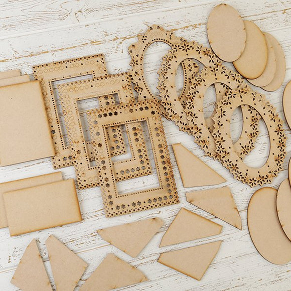 Craft Buddy Forever Flowerz Ornate MDF Frames Kit - FF-MDFOFR