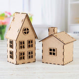Pretty Gets Gritty - Decorative MDF Festive Houses - Set of 2 with Base