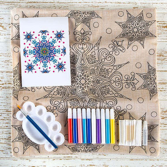 Craft Buddy Paint Me Cushion Kit - Stunning Snowflake - CUSH04