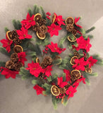 Forever Flowerz Pretty Poinsettias Garland Kit - Evergreen