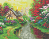 "CAK-TK3L: ""A Quiet Evening"" 40x50cm Crystal Art Kit  THOMAS KINKADE"