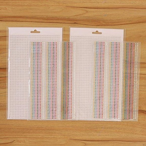 Craft Buddy 3000 Self Adhesive Gems - MULTI COLOUR - CB050M*2