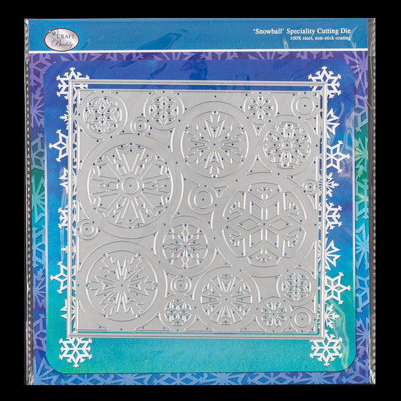 Craft Buddy Cascading Snowball Background Die Set - 2 Dies