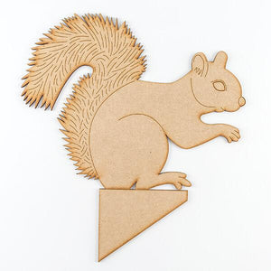Shaped MDF Stand - Squirrel with Stand