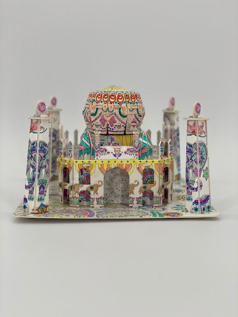 P3D003: Craft Buddy 3D Colour Me Puzzle Kits - Taj Mahal