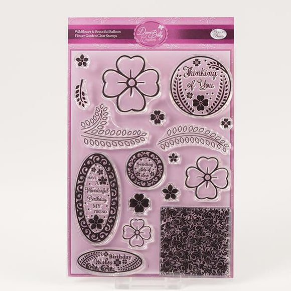 A5 Stamp Set - Wildflower & Beautiful Balloon Flower Garden