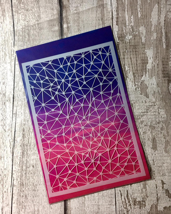 Craft Buddy Geometric Gems A5 Premium Mixed Media Stencil