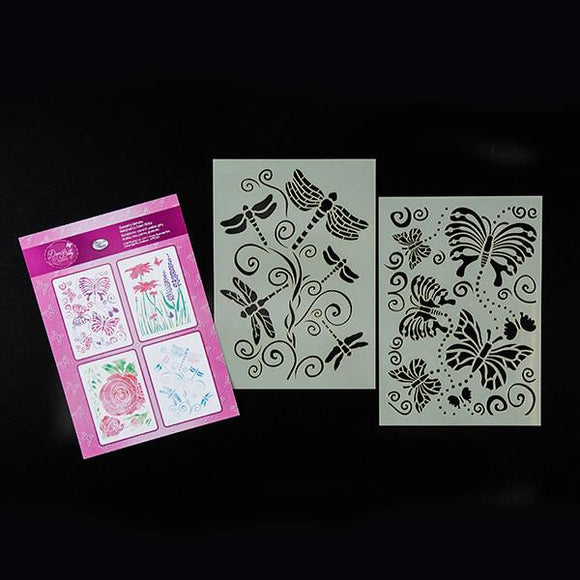 Butterflies and Dragonflies Stencil Set