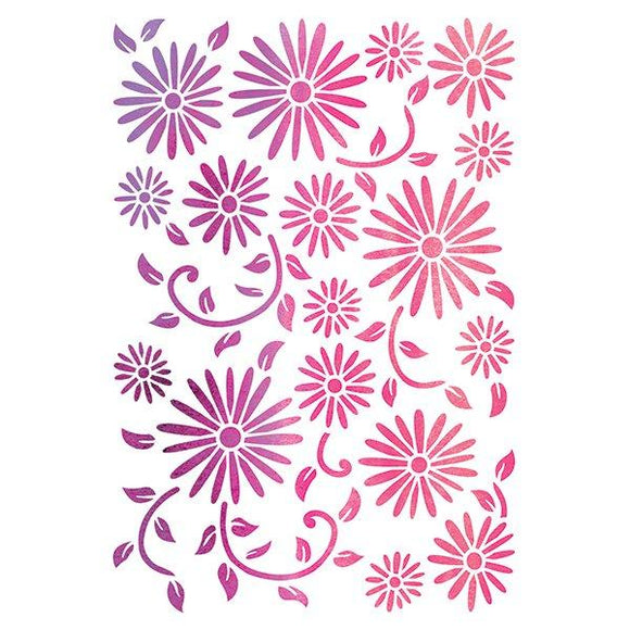 Dainty Daisies Premium Embossing Stencil