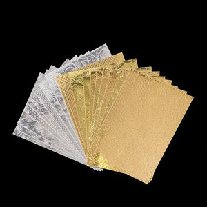 36 Sheets of Embossed Foil Card