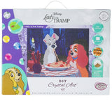CAK-DNY706L: Lady & The Tramp, 40x50cm Crystal Art Kit