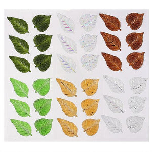 DB Set of 6 Crystal Leaf Adhesives - 6 Colors to choose from (DBG01..)
