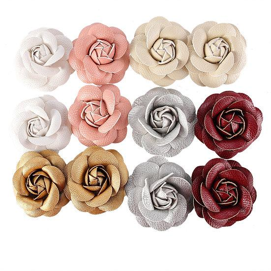 DB Set of 12 Faux Leather 3D Roses