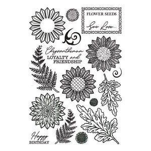 Forever Flowerz - Chic Chrysanthemums A5 Clear Stamp Set