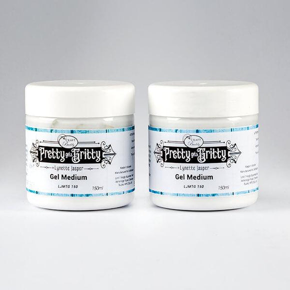 Pretty Gets Gritty - Set of 2 Gel Mediums