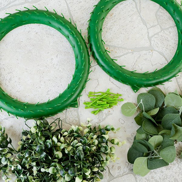 Forever Flowerz Eucalyptus Wreath and Leaves Kit - Makes 2 - FF-WRLP1