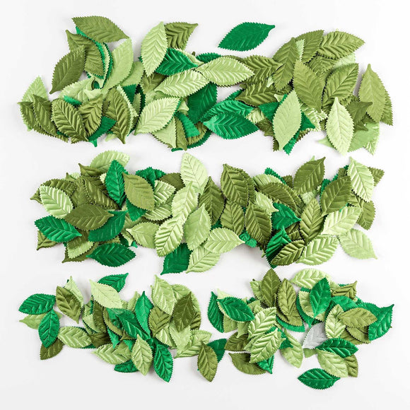300 Assorted Fabric Leaves