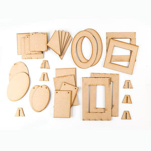 Decorate Me MDF Frames and Plaques - 30 Elements