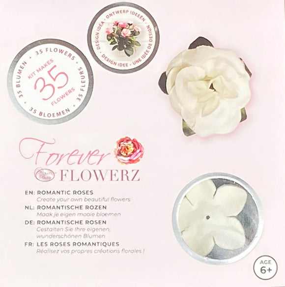 Flower Making Kit - Romantic Roses - WHITE - FF05WH