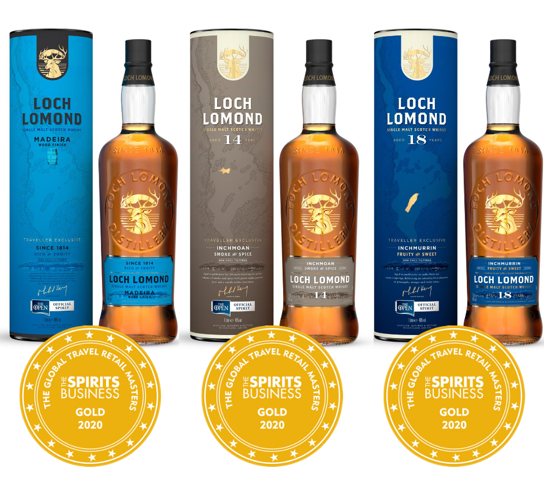 Triple Gold For Loch Lomond Whiskies