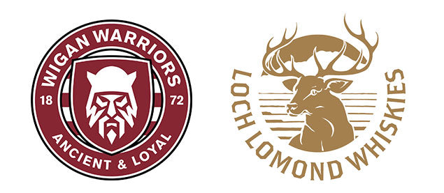 Wigan Warriors & Loch Lomond Whiskies Logo