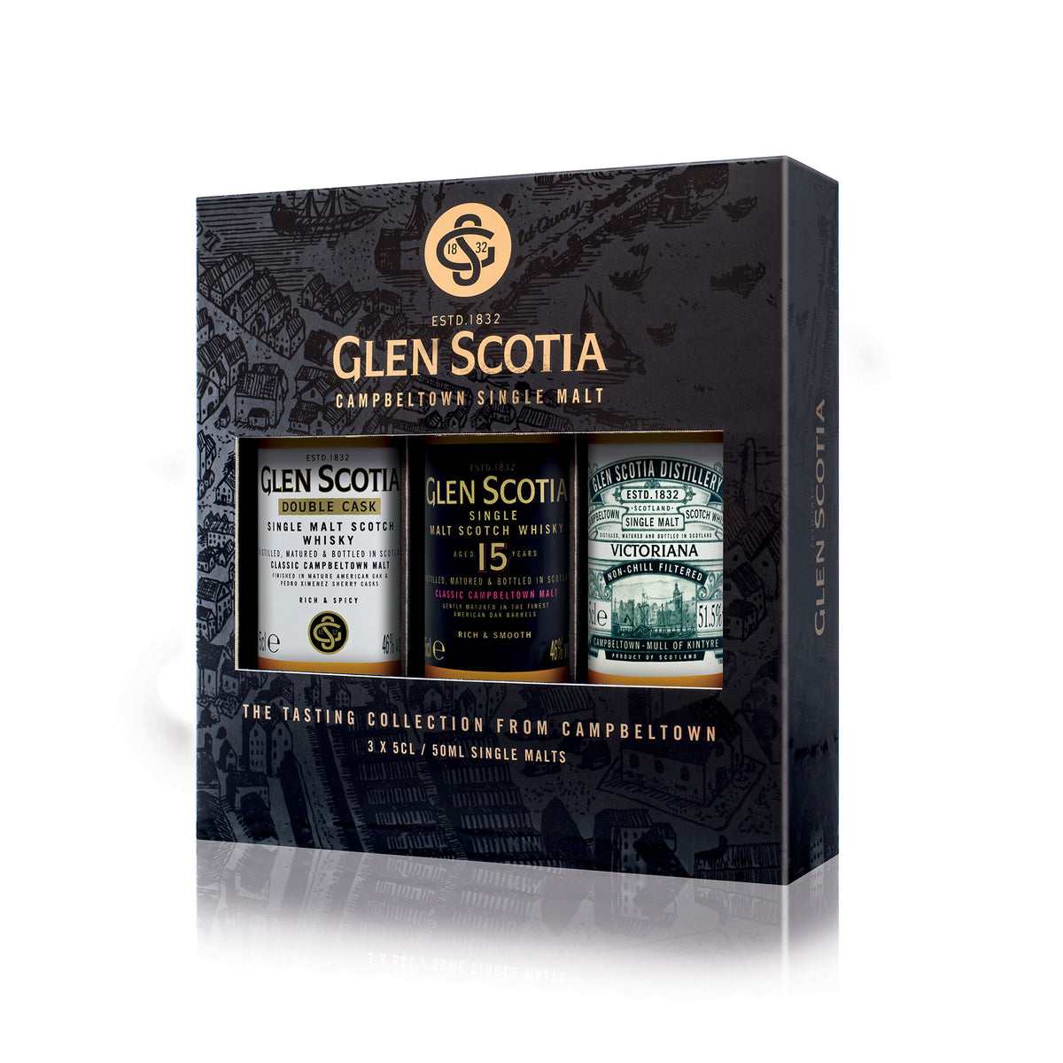 Glen Scotia Single Malt Whisky Gift Set - Campbeltown