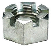 SLOTTED HEX NUT 1-1/8 INCH ZINC - Quality Farm Supply