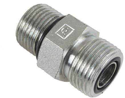 1/2 Male OFS x 1/2 Male O-Ring Boss - Straight Thread Connector - Steel - Quality Farm Supply