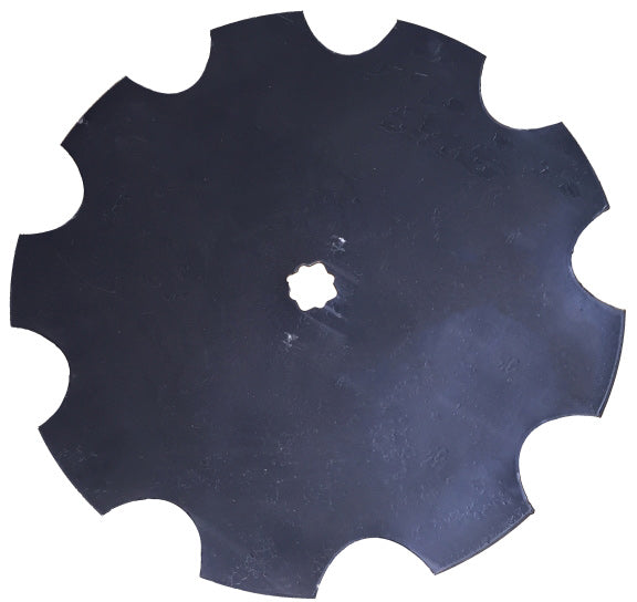 26 INCH X 1/4 INCH NOTCHED DISC BLADE WITH 1-1/8 SQ X 1-1/4 SQ AXLE - Quality Farm Supply