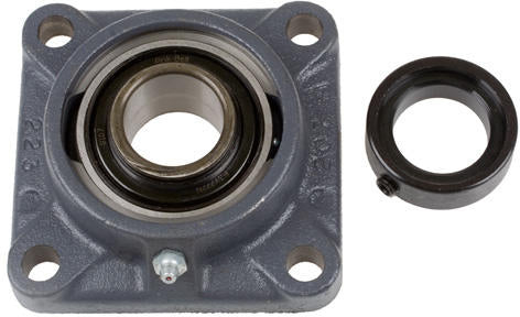 1-1/4 INCH 4 HOLE CAST IRON FLANGED BEARING - WITH ECCENTRIC LOCKING COLLAR 62MM HOUSING - Quality Farm Supply