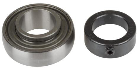 1-3/16 INCH BORE GREASABLE INSERT BEARING W/ COLLAR - SPHERICAL RACE - Quality Farm Supply