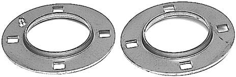 80MM 4 HOLE RELUBE SQUARE FLANGE PAIR - Quality Farm Supply