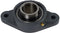 "1-1/2"" 2 Hole Cast Iron Bearing and Housing - With Set Screw Shaft - Quality Farm Supply"