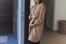 Afbeelding in Gallery-weergave laden, Long  cardigan FEVIER camel - PIANORI