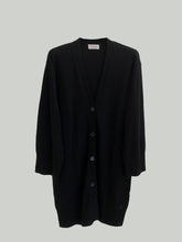 Afbeelding in Gallery-weergave laden, Long  cardigan FEVIER noir - PIANORI
