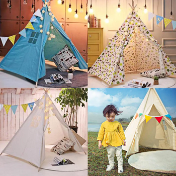Kids Indian Teepee Tent for Boys and Girls Playroom