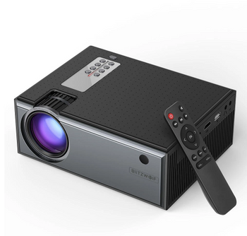 Blitzwolf® Portable Projector 1080p Home Theater with Multiple Ports and Remote Control (US)