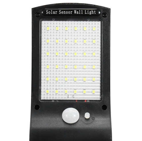 SolarPlexus™ Outdoor Solar Security Light LED with Motion Sensor for Wall or Fence