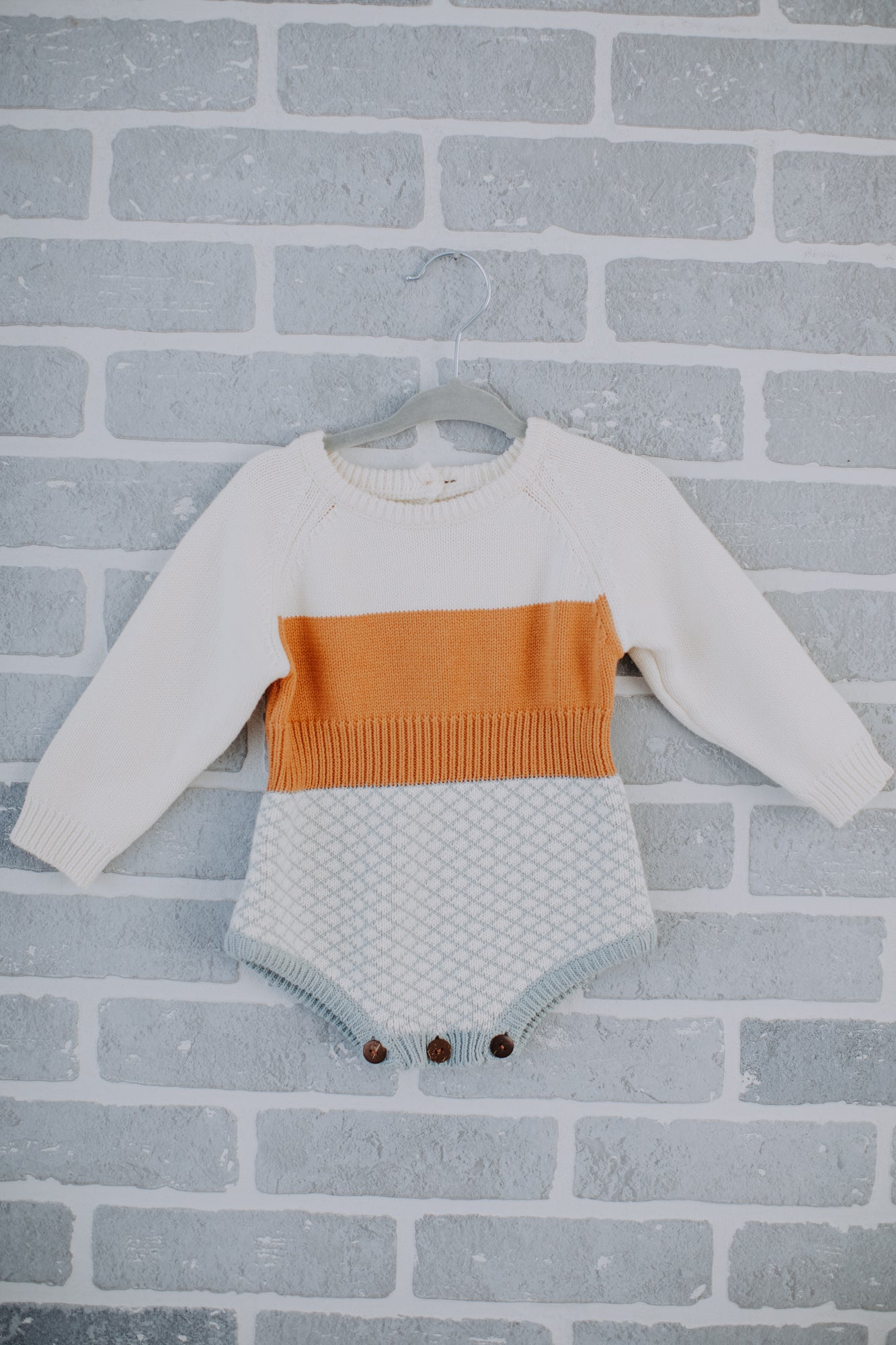 Color Block Print Knit Bodysuit Sweater