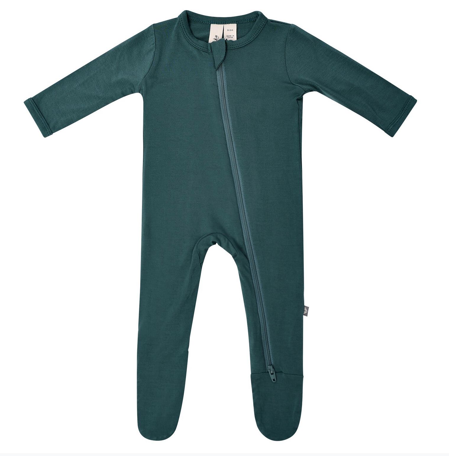 Zippered Footie in Emerald