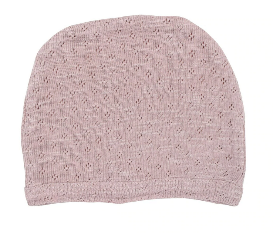Pointelle Hat - Thistle