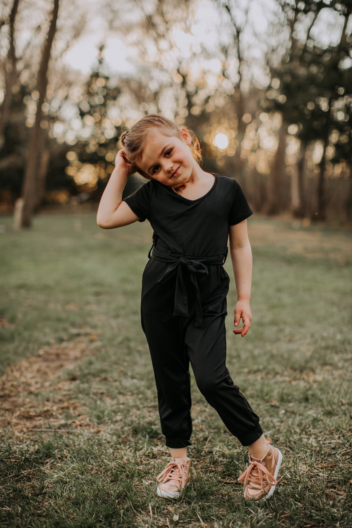 Replay V-Neck Toddler Jumpsuit in Black