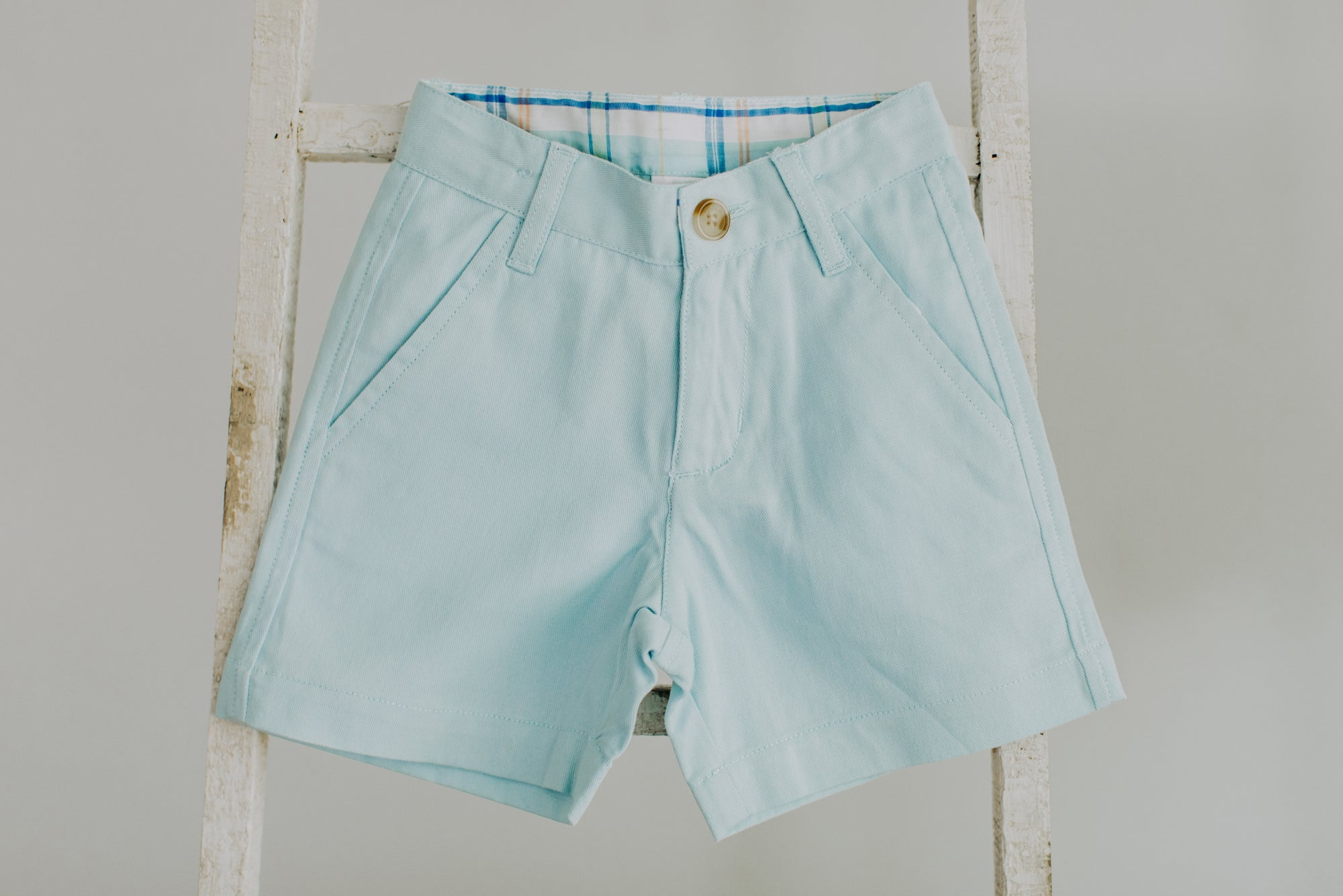 Pale Blue Lightweight Chino Shorts