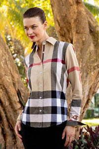 Rome Shirt in Burberry Plaid