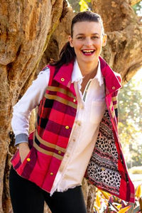 Rosey Vest by Dizzy Lizzy - Red Plaid