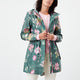 Joules® Golightly Green Floral Packaway Jacket