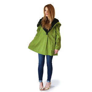 Mini Donatella Two-Toned Raincoat in Lime/Black