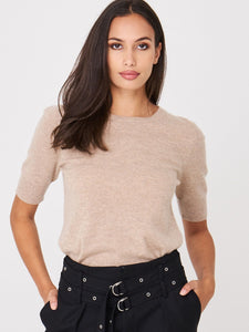 Short Sleeve Organic Cashmere Sweater