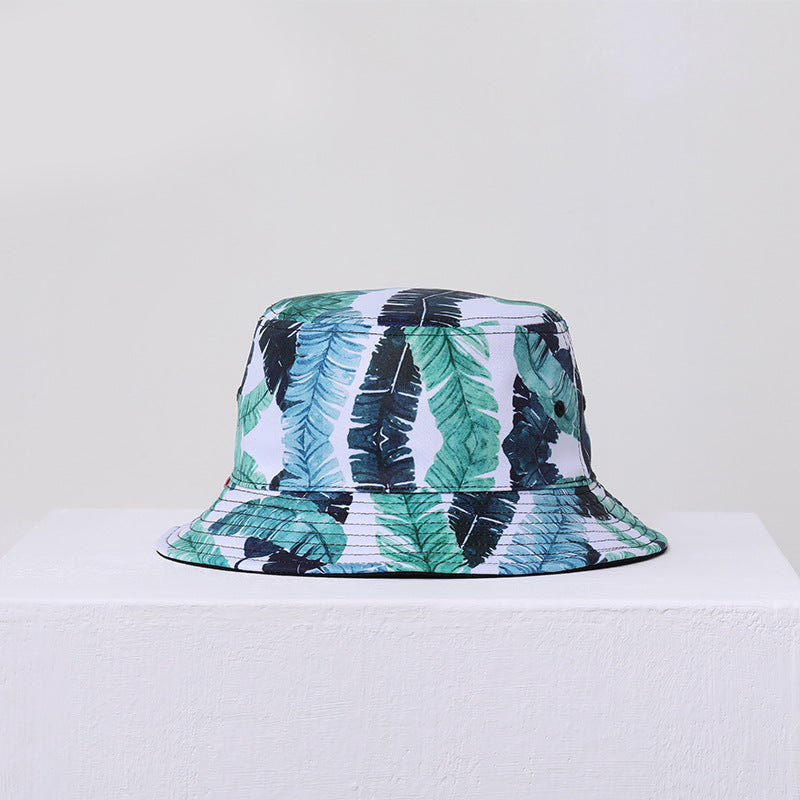 Double-sided 3D printed fisherman hat for men and women